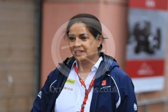 World © Octane Photographic Ltd. Sauber F1 Team Principal – Monisha Kaltenborn. Sunday 29th May 2016, F1 Monaco GP Paddock, Monaco, Monte Carlo. Digital Ref : 1572CB1D8861
