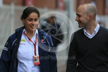 World © Octane Photographic Ltd. Sauber F1 Team Principal – Monisha Kaltenborn. Sunday 29th May 2016, F1 Monaco GP Paddock, Monaco, Monte Carlo. Digital Ref : 1572LB1D0866