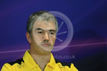 World © Octane Photographic Ltd. F1 Monaco GP FIA Team Personnel Press Conference, Monaco, Monte Carlo, Thursday 26th May 2016. Renault Sport F1 Team Chassis Technical Director – Nick Chester. Digital Ref : 1563LB1D7914