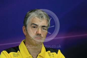 World © Octane Photographic Ltd. F1 Monaco GP FIA Team Personnel Press Conference, Monaco, Monte Carlo, Thursday 26th May 2016. Renault Sport F1 Team Chassis Technical Director – Nick Chester. Digital Ref : 1563LB1D7960