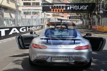 World © Octane Photographic Ltd. Mercedes AMG GT Safety Car. Friday 27th May 2016, GP2 Race 1, Monaco, Monte Carlo. Digital Ref :1566CB1D7798