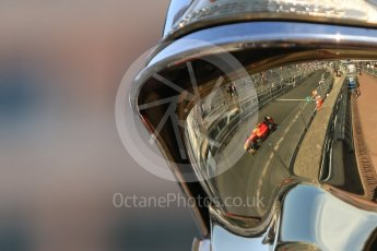 World © Octane Photographic Ltd. Racing Engineering - GP2/11 – Norman Nato and ART Grand Prix – Sergey Sirotkin reflected in a fire marshal's visor. Friday 27th May 2016, GP2 Race 1 1st lap, Monaco, Monte Carlo. Digital Ref :1566CB7D1599