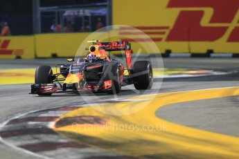 World © Octane Photographic Ltd. Red Bull Racing RB12 – Max Verstappen. Friday 16th September 2016, F1 Singapore GP Practice 1, Marina Bay Circuit, Singapore. Digital Ref :