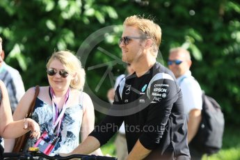 World © Octane Photographic Ltd. Mercedes AMG Petronas W07 Hybrid – Nico Rosberg. Friday 16th September 2016, F1 Singapore GP Paddock, Marina Bay Circuit, Singapore. Digital Ref :1715CB1D5636