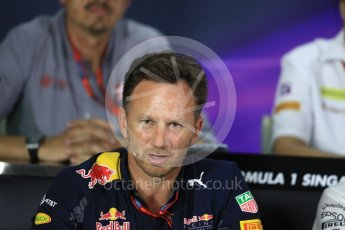 World © Octane Photographic Ltd. F1 Singapore GP FIA Personnel Press Conference, Marina Bay Circuit, Singapore. Friday 16th September 2016. Christian Horner – Team Principal Red Bull Racing. Digital Ref : 1718LB1D0189