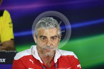 World © Octane Photographic Ltd. F1 Singapore GP FIA Personnel Press Conference, Marina Bay Circuit, Singapore. Friday 16th September 2016. Maurizio Arrivabene – Team Principal Scuderia Ferrari. Digital Ref : 1718LB1D0209
