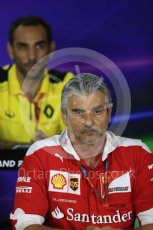 World © Octane Photographic Ltd. F1 Singapore GP FIA Personnel Press Conference, Marina Bay Circuit, Singapore. Friday 16th September 2016. Maurizio Arrivabene – Team Principal Scuderia Ferrari. Digital Ref : 1718LB1D0263