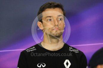 World © Octane Photographic Ltd. F1 Singapore GP FIA Drivers' Press Conference, Marina Bay Circuit, Singapore. Thursday 15th September 2016. Renault Sport F1 Team – Jolyon Palmer. Digital Ref :1714LB1D8845