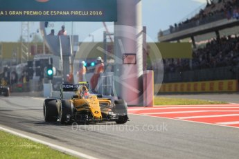 World © Octane Photographic Ltd. Renault Sport F1 Team RS16 Reserve Driver – Esteban Ocon. Friday 13th May 2016, F1 Spanish GP - Practice 1, Circuit de Barcelona Catalunya, Spain. Digital Ref : 1536CB1D6979