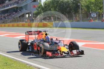 World © Octane Photographic Ltd. Red Bull Racing RB12 – Daniel Ricciardo. Friday 13th May 2016, F1 Spanish GP - Practice 1, Circuit de Barcelona Catalunya, Spain. Digital Ref : 1536CB1D7119