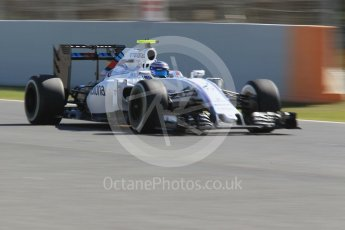 World © Octane Photographic Ltd. Williams Martini Racing, Williams Mercedes FW38 – Valtteri Bottas. Friday 13th May 2016, F1 Spanish GP - Practice 1, Circuit de Barcelona Catalunya, Spain. Digital Ref : 1536CB1D7398