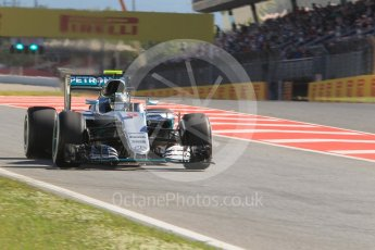 World © Octane Photographic Ltd. Mercedes AMG Petronas W07 Hybrid – Nico Rosberg. Friday 13th May 2016, F1 Spanish GP - Practice 1, Circuit de Barcelona Catalunya, Spain. Digital Ref : 1536CB1D7424