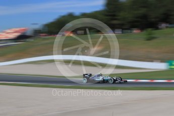World © Octane Photographic Ltd. Mercedes AMG Petronas W07 Hybrid – Nico Rosberg. Friday 13th May 2016, F1 Spanish GP - Practice 1, Circuit de Barcelona Catalunya, Spain. Digital Ref : 1536CB7D6606