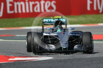 World © Octane Photographic Ltd. Mercedes AMG Petronas W07 Hybrid – Nico Rosberg. Friday 13th May 2016, F1 Spanish GP - Practice 1, Circuit de Barcelona Catalunya, Spain. Digital Ref : 1536LB1D4064
