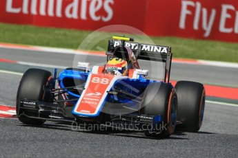 World © Octane Photographic Ltd. Manor Racing MRT05 – Rio Haryanto. Friday 13th May 2016, F1 Spanish GP - Practice 1, Circuit de Barcelona Catalunya, Spain. Digital Ref : 1536LB1D4173