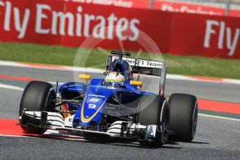 World © Octane Photographic Ltd. Sauber F1 Team C35 – Marcus Ericsson. Friday 13th May 2016, F1 Spanish GP - Practice 1, Circuit de Barcelona Catalunya, Spain. Digital Ref : 1536LB1D4312