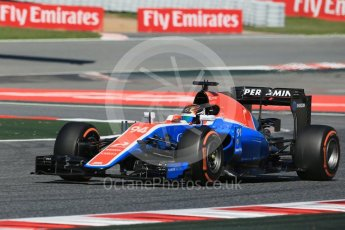 World © Octane Photographic Ltd. Manor Racing MRT05 - Pascal Wehrlein. Friday 13th May 2016, F1 Spanish GP - Practice 1, Circuit de Barcelona Catalunya, Spain. Digital Ref : 1536LB1D4665