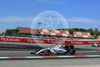 World © Octane Photographic Ltd. Williams Martini Racing, Williams Mercedes FW38 – Felipe Massa. Friday 13th May 2016, F1 Spanish GP - Practice 1, Circuit de Barcelona Catalunya, Spain. Digital Ref : 1536LB5D3176