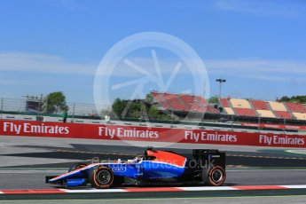 World © Octane Photographic Ltd. Manor Racing MRT05 - Pascal Wehrlein. Friday 13th May 2016, F1 Spanish GP - Practice 1, Circuit de Barcelona Catalunya, Spain. Digital Ref : 1536LB5D3200