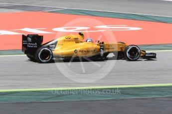 World © Octane Photographic Ltd. Renault Sport F1 Team RS16 – Jolyon Palmer. Friday 13th May 2016, F1 Spanish GP - Practice 2, Circuit de Barcelona Catalunya, Spain. Digital Ref : 1539CB1D8110