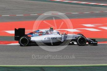 World © Octane Photographic Ltd. Williams Martini Racing, Williams Mercedes FW38 – Valtteri Bottas. Friday 13th May 2016, F1 Spanish GP - Practice 2, Circuit de Barcelona Catalunya, Spain. Digital Ref : 1539CB1D8181