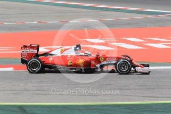 World © Octane Photographic Ltd. Scuderia Ferrari SF16-H – Sebastian Vettel. Friday 13th May 2016, F1 Spanish GP - Practice 2, Circuit de Barcelona Catalunya, Spain. Digital Ref : 1539CB1D8258