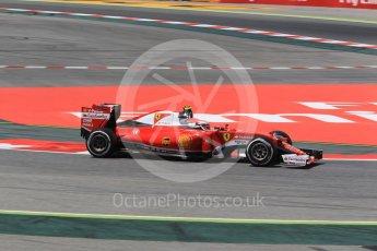 World © Octane Photographic Ltd. Scuderia Ferrari SF16-H – Kimi Raikkonen. Friday 13th May 2016, F1 Spanish GP - Practice 2, Circuit de Barcelona Catalunya, Spain. Digital Ref : 1539CB1D8324