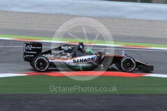 World © Octane Photographic Ltd. Sahara Force India VJM09 - Nico Hulkenberg. Friday 13th May 2016, F1 Spanish GP - Practice 2, Circuit de Barcelona Catalunya, Spain. Digital Ref : 1539CB1D8372