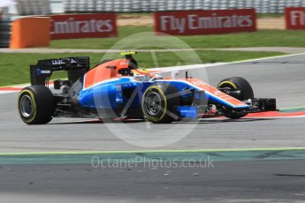 World © Octane Photographic Ltd. Manor Racing MRT05 – Rio Haryanto. Friday 13th May 2016, F1 Spanish GP Practice 2, Circuit de Barcelona Catalunya, Spain. Digital Ref : 1539CB1D8639