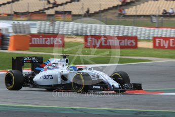 World © Octane Photographic Ltd. Williams Martini Racing, Williams Mercedes FW38 – Felipe Massa. Friday 13th May 2016, F1 Spanish GP Practice 2, Circuit de Barcelona Catalunya, Spain. Digital Ref : 1539CB1D8689