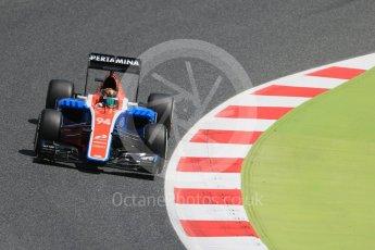 World © Octane Photographic Ltd. Manor Racing MRT05 - Pascal Wehrlein. Friday 13th May 2016, F1 Spanish GP Practice 2 Circuit de Barcelona Catalunya, Spain. Digital Ref : 1539LB1D4876