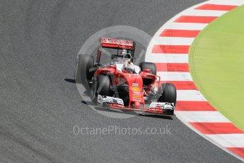 World © Octane Photographic Ltd. Scuderia Ferrari SF16-H – Sebastian Vettel. Friday 13th May 2016, F1 Spanish GP Practice 2, Circuit de Barcelona Catalunya, Spain. Digital Ref : 1539LB1D4936