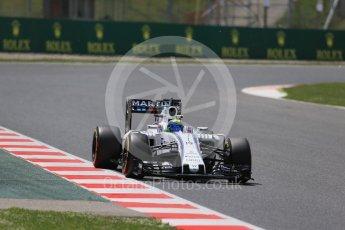 World © Octane Photographic Ltd. Williams Martini Racing, Williams Mercedes FW38 – Felipe Massa. Friday 13th May 2016, F1 Spanish GP Practice 2, Circuit de Barcelona Catalunya, Spain. Digital Ref : 1539LB1D5331