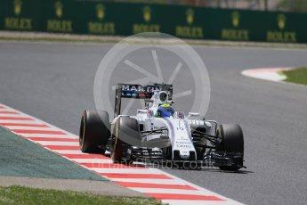 World © Octane Photographic Ltd. Williams Martini Racing, Williams Mercedes FW38 – Felipe Massa. Friday 13th May 2016, F1 Spanish GP Practice 2, Circuit de Barcelona Catalunya, Spain. Digital Ref : 1539LB1D5379