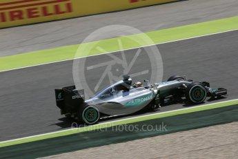 World © Octane Photographic Ltd. Mercedes AMG Petronas W07 Hybrid – Lewis Hamilton. Friday 13th May 2016, F1 Spanish GP Practice 2, Circuit de Barcelona Catalunya, Spain. Digital Ref : 1539LB5D3534