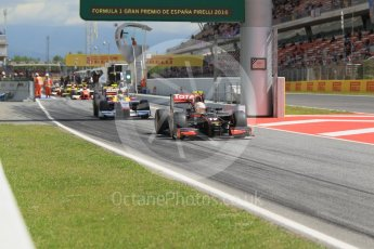 World © Octane Photographic Ltd. Rapax - GP2/11 – Arthur Pic. Friday 13th May 2016, GP2 Practice, Circuit de Barcelona Catalunya, Spain. Digital Ref :1538CB1D7974