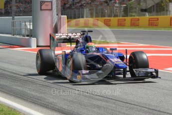 World © Octane Photographic Ltd. Carlin - GP2/11 – TBA. Friday 13th May 2016, GP2 Practice, Circuit de Barcelona Catalunya, Spain. Digital Ref :1538CB1D7994
