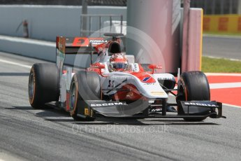 Matsushita. Friday 13th May 2016, GP2 Practice, Circuit de Barcelona Catalunya, Spain. Digital Ref :1538CB1D8017