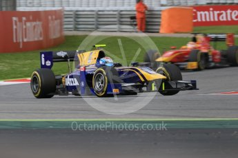 World © Octane Photographic Ltd. DAMS - GP2/11 – Nicholas Latifi and Racing Engineering – Norman Nato. Friday 13th May 2016, GP2 Qualifying, Circuit de Barcelona Catalunya, Spain. Digital Ref :1541CB7D6942