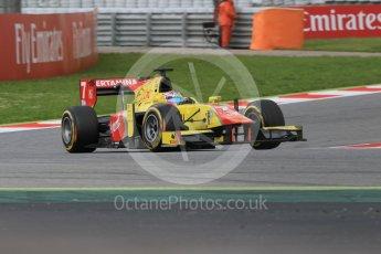 World © Octane Photographic Ltd. Pertamina Campos Racing - GP2/11 – Mitch Evans. Friday 13th May 2016, GP2 Qualifying, Circuit de Barcelona Catalunya, Spain. Digital Ref :1541CB7D6968