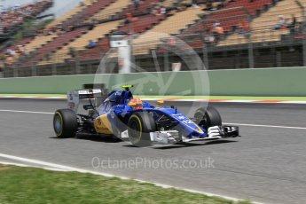 World © Octane Photographic Ltd. Sauber F1 Team C35 – Felipe Nasr. Saturday 14th May 2016, F1 Spanish GP - Qualifying, Circuit de Barcelona Catalunya, Spain. Digital Ref : 1546CB1D9701