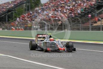 World © Octane Photographic Ltd. Haas F1 Team VF-16 - Esteban Gutierrez. Saturday 14th May 2016, F1 Spanish GP - Qualifying, Circuit de Barcelona Catalunya, Spain. Digital Ref : 1546CB1D9790