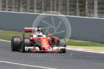 World © Octane Photographic Ltd. Scuderia Ferrari SF16-H – Sebastian Vettel. Saturday 14th May 2016, F1 Spanish GP - Qualifying, Circuit de Barcelona Catalunya, Spain. Digital Ref : 1546CB7D7525