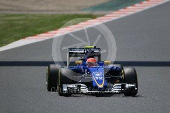 World © Octane Photographic Ltd. Sauber F1 Team C35 – Felipe Nasr. Saturday 14th May 2016, F1 Spanish GP - Qualifying, Circuit de Barcelona Catalunya, Spain. Digital Ref : 1546CB7D7607