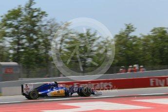 World © Octane Photographic Ltd. Sauber F1 Team C35 – Felipe Nasr. Saturday 14th May 2016, F1 Spanish GP - Qualifying, Circuit de Barcelona Catalunya, Spain. Digital Ref : 1546LB1D6763