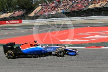 World © Octane Photographic Ltd. Manor Racing MRT05 - Pascal Wehrlein. Saturday 14th May 2016, F1 Spanish GP - Qualifying, Circuit de Barcelona Catalunya, Spain. Digital Ref : 1546LB1D6943