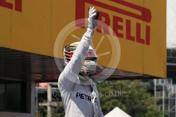 World © Octane Photographic Ltd. Mercedes AMG Petronas W07 Hybrid – Lewis Hamilton. Saturday 14th May 2016, F1 Spanish GP - Qualifying, Circuit de Barcelona Catalunya, Spain. Digital Ref : 1546LB1D7038