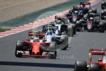 World © Octane Photographic Ltd. The pack in turn 6. Sunday 15th May 2016, F1 Spanish GP Race, Circuit de Barcelona Catalunya, Spain. Digital Ref :