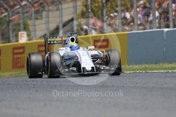 World © Octane Photographic Ltd. Williams Martini Racing, Williams Mercedes FW38 – Felipe Massa. Sunday 15th May 2016, F1 Spanish GP Race, Circuit de Barcelona Catalunya, Spain. Digital Ref :