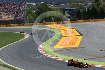 World © Octane Photographic Ltd. Red Bull Racing RB12 – Max Verstappen. Sunday 15th May 2016, F1 Spanish GP Race, Circuit de Barcelona Catalunya, Spain. Digital Ref :